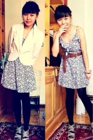 H&M dress - H&M blazer - CMG wedges