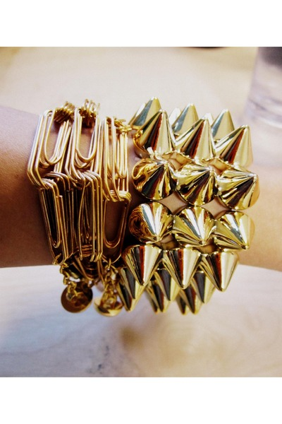 studded Cuff and Neck bracelet - DIY bracelet