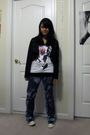 Black-forever-21-jacket-white-t-shirt-blue-jeans-gray-converse-shoes-sil