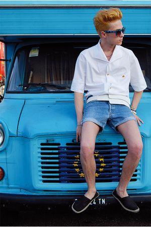 vivienne westwood shirt - espadrilles H&M shoes - diy Levis jeans