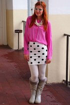 Bershka skirt - H&M blouse - H&M necklace