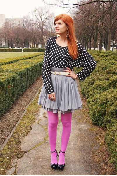 H&M skirt - H&M tights - Zara blouse