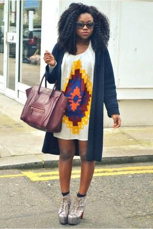 asoscom dress - Celine bag - Jeffrey Campbell heels