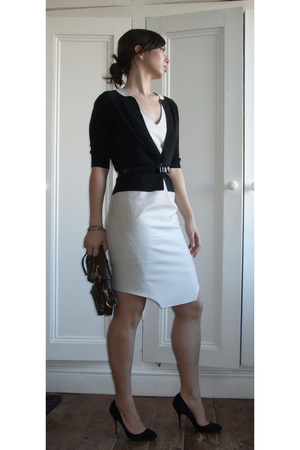 banana republic sweater - Helmut Lang dress - H&M belt