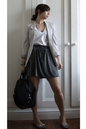 Helmut Lang jacket - asos skirt - Miu Miu shoes - Givenchy purse
