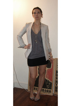 Helmut Lang jacket - American Apparel shirt - American Apparel skirt - Louboutin