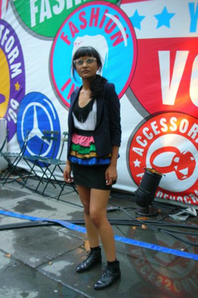 diy vintage top - misha accessories - skirt