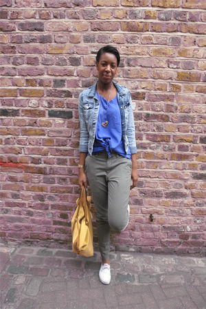 stretch denim H&amp;M jacket - Vans shoes - Story of Lola top - Story of Lola pants