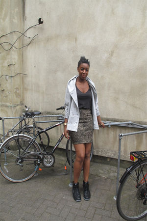 Story of Lola jacket - H&amp;M vest - vintage skirt - nike shoes