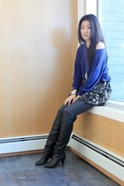 American Apparel sweater - Guess boots - Forever 21 shirt