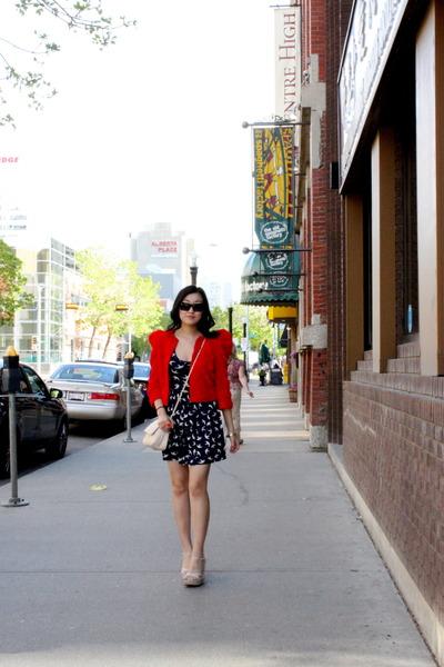 Zara dress - H&M jacket - Aldo shoes - asos purse