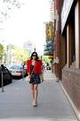 Zara-dress-h-m-jacket-aldo-shoes-asos-purse