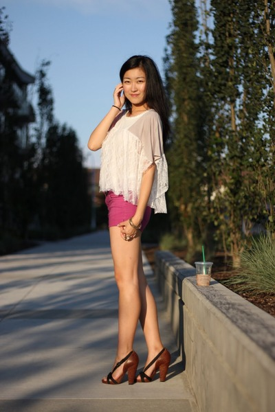 Forever 21 shirt - DIY shorts - Givenchy shoes
