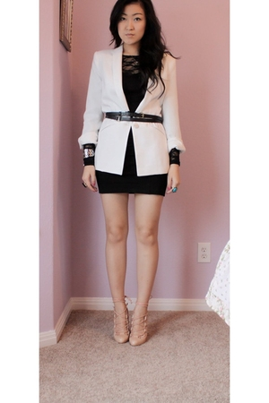 Zara blazer - H&M dress - Christian Louboutin shoes