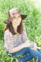brown Bershka hat