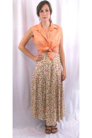 orange MIskabelle top - yellow MIskabelle skirt