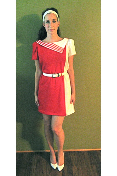 red MIskabelle dress - white MIskabelle belt