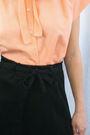 Orange-miskabelle-blouse-black-miskabelle-skirt