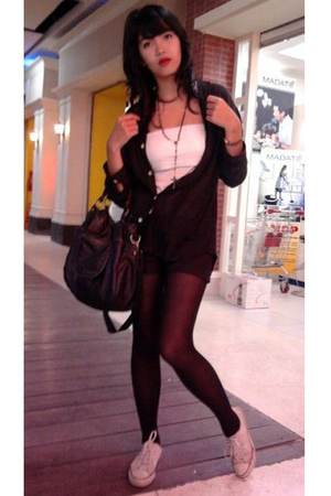 shirt - Insight top - gunung agung shorts - Pantyhose tights - D & G purse - Con