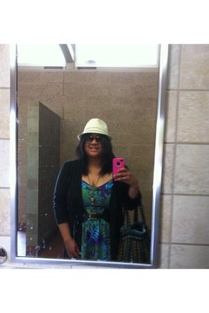 Arizona dress - cream fedora Wanted hat - tribal print Forever 21 bag - decree n