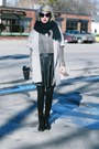 Black-thrifted-boots-silver-maxi-thrifted-sweater-black-thrifted-scarf