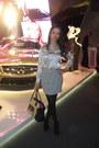 Black-nine-west-shoes-silver-inc-shirt-periwinkle-forever-21-skirt