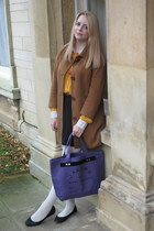 Monki blouse - Monki coat - Marc by Marc Jacobs bag - asos skirt