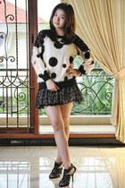 white Porcupid Closet jumper - black lace tutu skirt Magnolia skirt