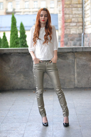 Gold Pants How To Wear And Where To Buy Chictopia