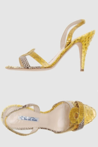 yellow Oscar de la Renta shoes