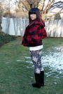 Red-forever-21-jacket-white-lacoste-sweater-black-charlotte-russe-leggings-