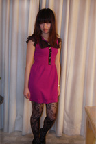 pink Forever 21 dress - black Rodarte for Target tights