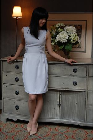 gray Zara dress - beige Steve Madden shoes