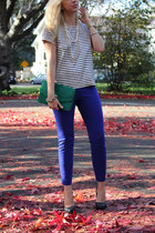 J Crew top - vintage bag - christian dior pumps - J Crew pants
