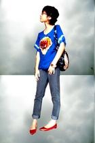 Bali top - Cheap Monday jeans - shoes - bracelet - belle purse