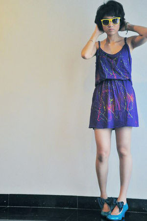 purple iconia dress - green unbranded - yellow from oz