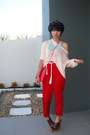 Hot-pink-rotan-thrifted-bag-red-carrot-iconia-pants