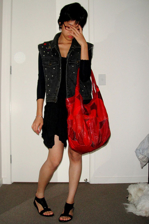 top - skirt - shoes - Bag