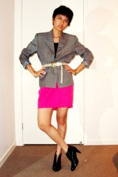blazer - skirt - shoes