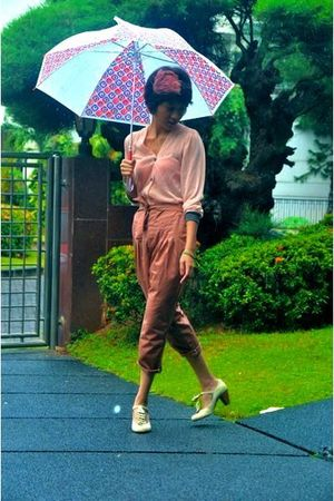 pink putris - pink iconia cardigan - pink iconia - beige Scooter shoes