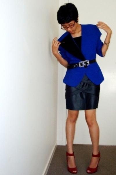 blazer - belt - skirt - shoes