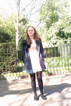 Topshop coat - Oasis blouse - Topshop skirt - Topshop flats