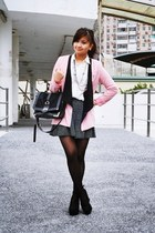 pink and black Sheinside blazer