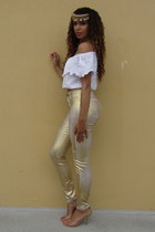 cotton Nasty Gal top - kate spade bag - Nasty Gal pants - Forever 21 accessories