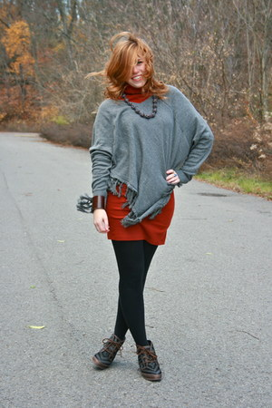 sweater American Apparel dress - poncho modcloth sweater