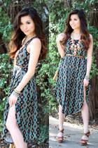 Lily Wang necklace - Target dress - Target heels - Forever 21 belt