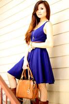 madewell necklace - Target boots - Old Navy dress - Emilie m bag