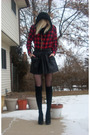 Red-walmart-shirt-black-skirt-black-betsey-johnson-tights-black-target-soc