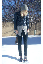 gray boyfriends hat - black proenza schouler for target jacket - gray Forever 21