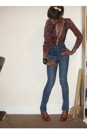 Mango blouse - Topshop jeans - shoes - Primark accessories - accessories